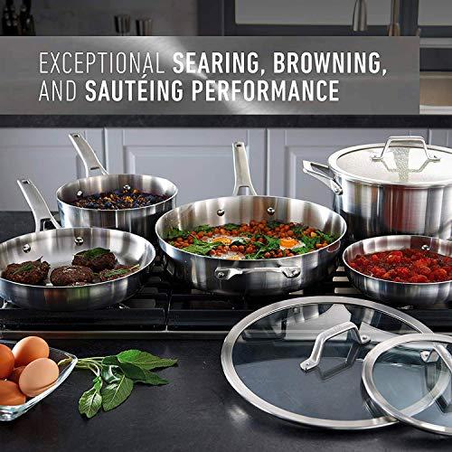 Calphalon 2029633 Premier Stainless Steel 8-Piece Cookware Set, Silver