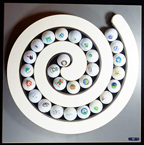 Clipboart Golfball Spirale für max. 27 Bälle Vitrine Golfbälle Sammlung Klemmvorrichtung