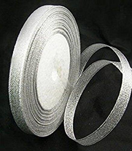45 m//m-Perles et Charms 45 1 x 50 m/ètres ruban Organza blanc 10 mm de largeur 50 m de fil Par bobine-Rouleau