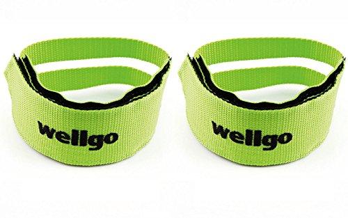 2x Nylon Straps Riemen von Wellgo Pedale für Fahrrad Fixie grün 3211grün