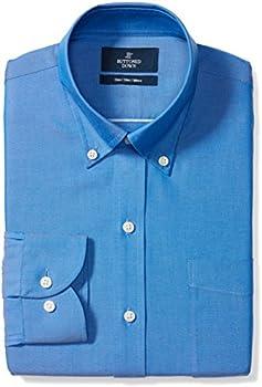 Buttoned Down Men's Slim Fit Button Collar Solid Dress Shirt