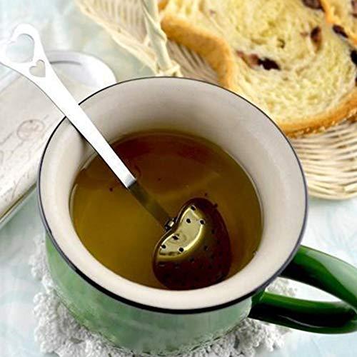 BRUSSELS08a forma di cuore in acciaio INOX infusore tè cucchiaio long-handle Tea filtri sciolto foglia di tè strainer Steeper teiera caffè filtro arancione succo agitatore filtro per tè colino m