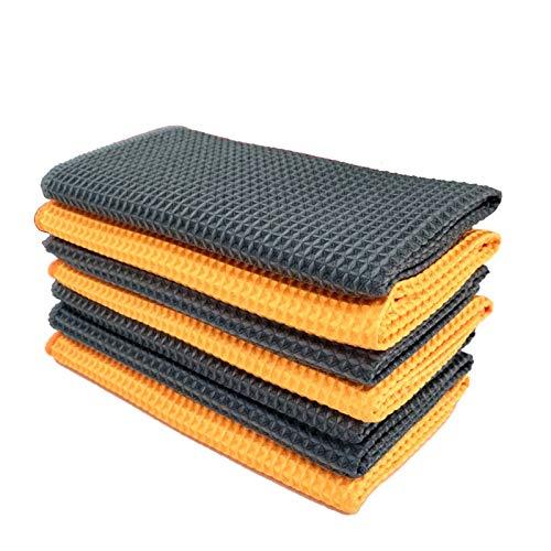 Alysays Practical Toallas de Tejido de Waffle de Microfibra para Coches Convenience (Color : Orange, Material : Superfine Fiber)