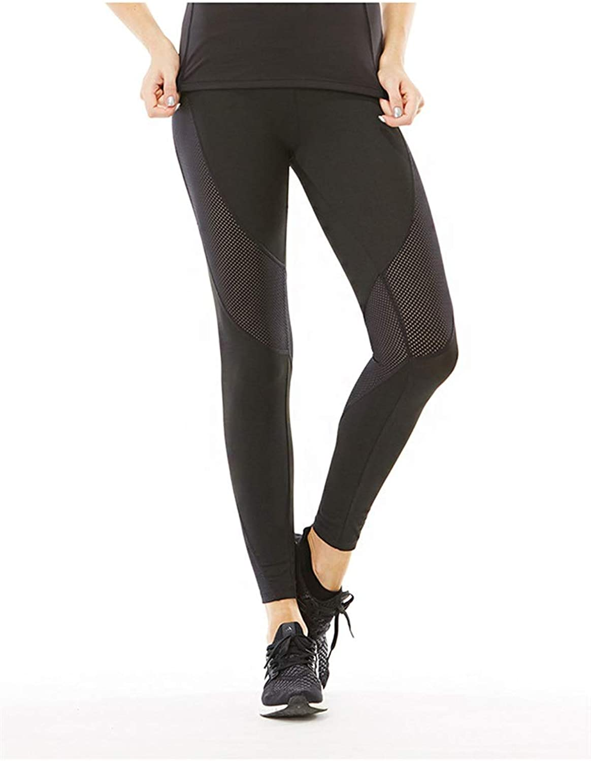 SCRT Yoga Pants Sports and Fitness Trousers QuickDrying & Breathable Mesh Splicing Stretch Women's Tights (Size   XL)