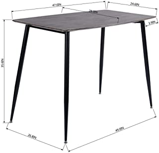 Aingoo Dining Table, Simple Style Industrial Wood and Metal Cocktail Table with Tall Legs 47