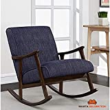 Mamta Decoration Wooden Brown Rocking Chair with Cushion