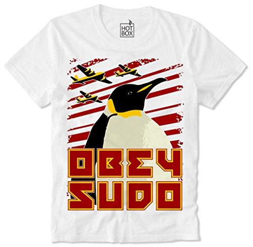 Hotbox T Shirt Obey SUDO Linux Hacker Anonymous Nerd L