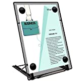 MaxGear Desktop Document Holder Copy Holders with 6 Adjustable Positions Foldable Paper Holder Metal Mesh Paper Stand Typing Stands for Desk with 4 Magnetic Buckles, 9.5 x 13.2 inches, Black