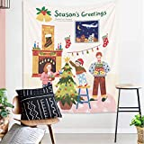 Brandless Fondo de Navidad Paño de Dibujos Animados Navidad Árbol de Navidad Arte Decoración del hogar para el Dormitorio Sala de Estar Decoración del Dormitorio