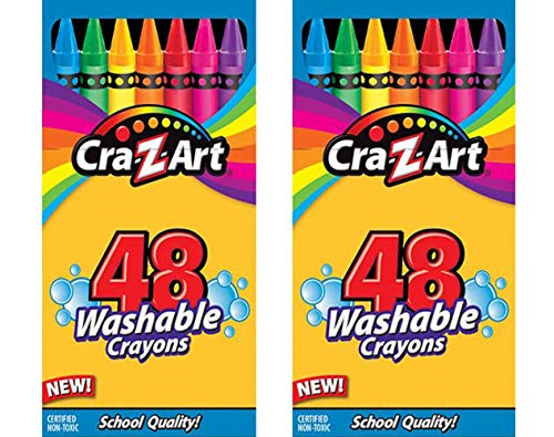 Cra-Z-Art, 48 Washable Crayons, Pack of 2