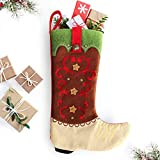Country Christmas Stockings - 18-inch Cowboy Boot Christmas Stocking, Farmhouse Christmas Stockings Christmas Decoration Rustic Stockings, Western Christmas Stockings, Country Christmas Decorations