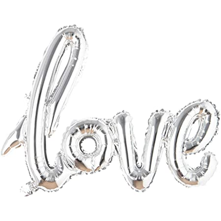 Vintage Romance Wedding  Ballons  Just Married Silver//Whiite  Wedding Supplies