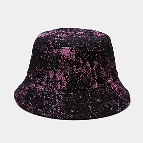 Leftroad Gorra de Playa Plegable de algodón Sun,Sombrero de Pescador Plegable Unisex gypsophila Tie-Dye-Rosa Rojo,Gorra de Pescador de algodón Plegable para Exteriores