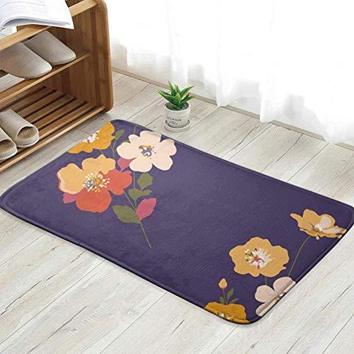 goodsale2019 Felpudo Lindo Floral pequeño Flor Felpudo Alfombra de Entrada Alfombra de Piso Alfombra Interior/Puerta de Entrada/baño/Cocina y Sala de Estar.