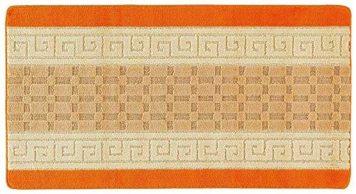 Classic Home - Alfombra de gel antideslizante con parte trasera de Nada (60 x 110 cm), color naranja