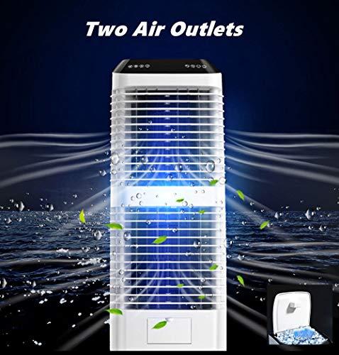 WangXL Mobiele verdampingsluchtkoeler, tot 50 m2, mobiele airconditioning met waterreservoir van 30 l, geïntegreerde luchtreiniger en luchtbevochtiger, stille werking, 3 snelheidsniveaus, schommel, 150 W