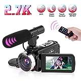Video Camera Camcorder Digital YouTube Vlogging Camera,Nycetek Camera Recorder Ultra HD 2.7K 30FPS 30MP 3.0 Inch WiFi Transmission 270° Rotation Screen 16X Digital Zoom Camcorder with Remote Control