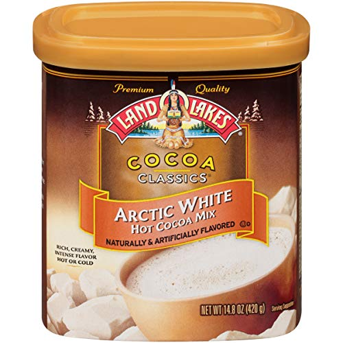 Land O Lakes Canister Hot Cocoa Mix, Arctic White, 14.8 Ounce