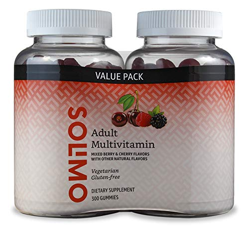 Amazon Brand - Solimo Adult Multivitamin, 300 Gummies, 150-Day Supply, 150 Count (Pack of 2)
