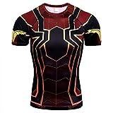 HOOLAZA Avengers Super Heroes Hombres Camiseta de compresión Spiderman Tops Fitness...
