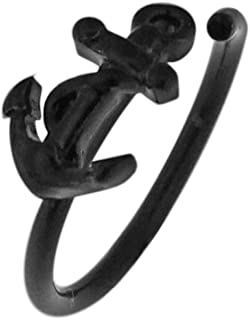 Tribal Anchor 16 Gauge - 8MM 316L Surgical Steel Hoop Earring Cartilage Daith Tragus Helix Jewelry