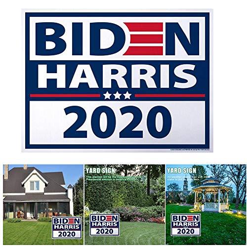 Biden 2020 Flagge für die Präsidentschaftswahl - 2020 Biden Harris Politische Kampagne Großes Yard-Schild Doppelseitiges Schild mit wetterbeständigem H-Pfahl für die Präsidentschaftswahlkampagne