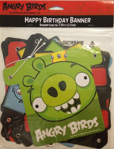 Angry Birds Happy Birthday Banner (1ct)