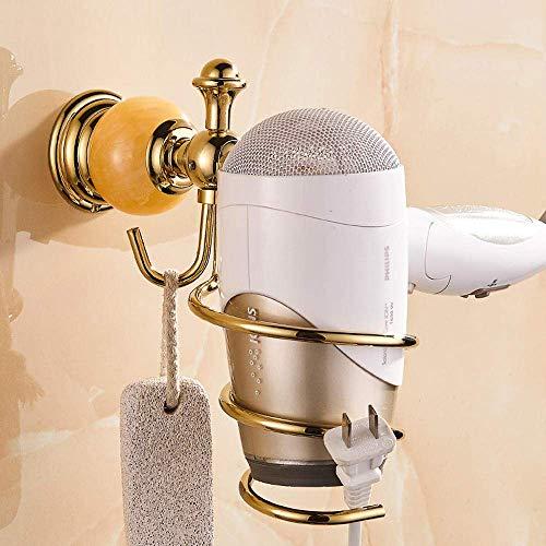 KXA Bathroom European Style Gold Blower Rack Antique Bathroom Storage Rack Toilet Hair Dryer Rack