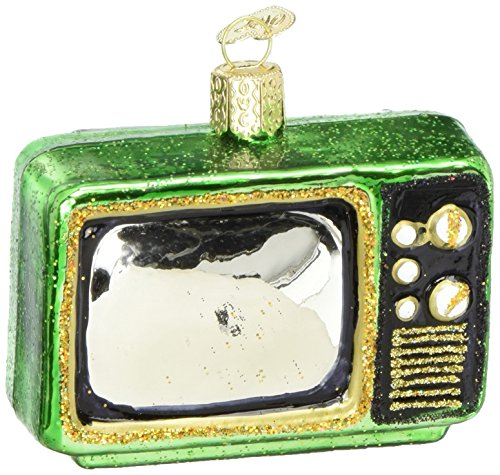 Old World Christmas Ornaments: Retro Tube Tv Glass Blown Ornaments for Christmas Tree