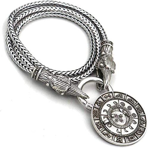 NC83 Wolf Head Necklace Norse Mythology Pendant Men Fashion Jewelry