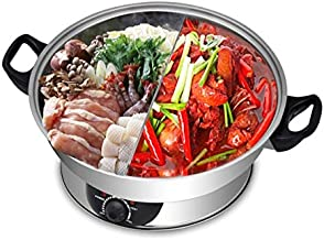 Electric Hotpot by Galaxy Tiger SET-500N Stainless Steel Shabu Shabu Steamboat Hot Pot with Divider 1600W Perfect for Fami...