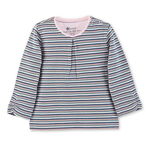 Sterntaler Langarmshirt für Mädchen mit Streifenmuster, Alter: 3-4 Monate, Größe: 56, Dunkeltürkis, 5661903
