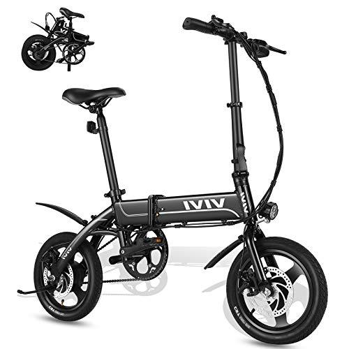 """VIVI Bicicletta Elettrica Pieghevole 350W Bici Elettriche, Bici Elettrica per Adulti, Bike Elettrica con Ruota Integrata da 14\"""", Batteria da 7.8 Ah, Velocità di 32 km/h, 3 Modalità di Lavoro (Nero)"""