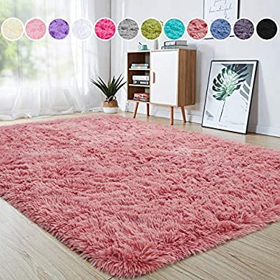 junovo Rectangle Fluffy Ultra Soft Area Rugs for Bedroom Plush Shaggy Carpet for Kids Room Bedside Nursery Mats