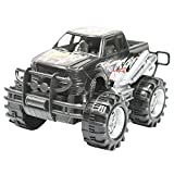 TukTek Kids First Mini Monster Truck Toy 4x4 Small Friction Push Off-Road Race Car Super Speed Assorted Colors for Boys & Girls