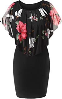 Sleeveless Sexy Women Floral Printed Bodycon Holiday Short Dress Party Mini Dress