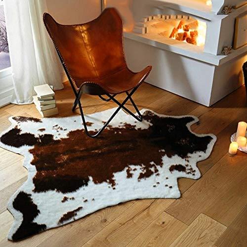 Feli546Bruce– Tapis antidérapant à motif de vache pour salon, chambre à coucher, canapé, Polyester, vache, Taille unique