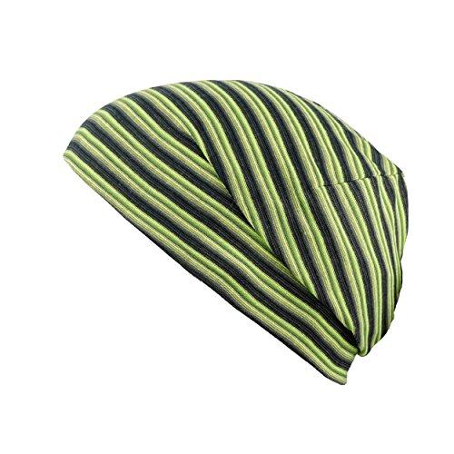 Buff Cache-col Multifonctions en Microfibre L Reversible Yellow Fluor Stripes