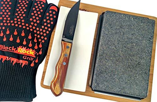 Black Rock Grill Lava Stone Steak Gift Set