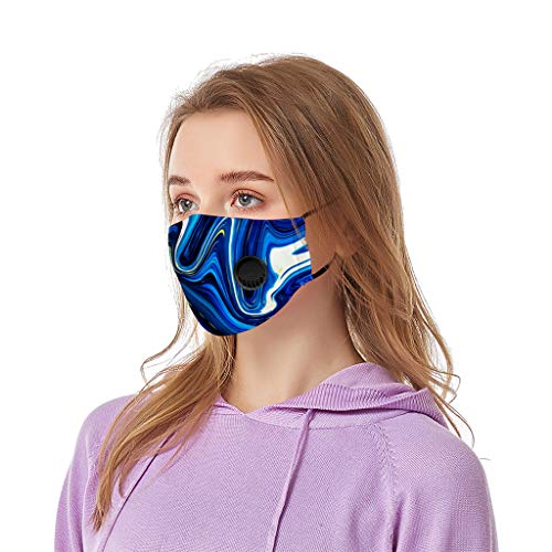 Aadiju Face Mask Printed Washable Reusable – Protection from Dust Proof Protect with Breathing Valve Face Mouth Cover Outdoor