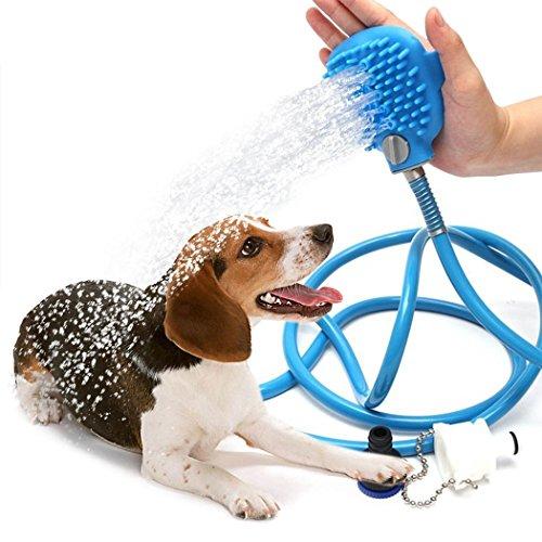 LRKC Huisdier Bad/Grooming Tool - Scrubbing Douche Hoofd Bijlage Voor Honden, Paarden, Andere Dieren - Indoor Kraan, Douche, en Tuinslang Compatibel
