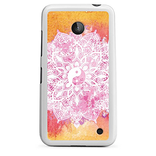 DeinDesign Silikon Hülle kompatibel mit Nokia Lumia 635 Hülle weiß Handyhülle Arterie rosa Boho