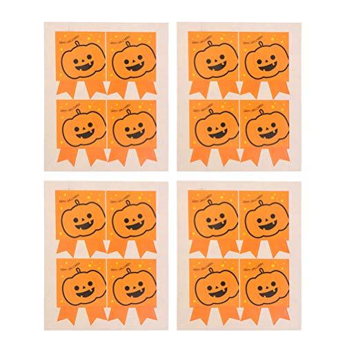 ifundom Decoración de Halloween 120 hojas adhesivo de calabaza de Halloween para decoración de regalo de horneado para decoraciones de fiesta de Halloween, decoración del hogar