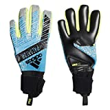 adidas Predator Pro Gants Mixte Adulte, Bright Cyan/Silver Met/Solar Yellow/Black, FR : L (Taille Fabricant : 9)
