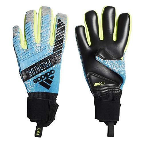 adidas Herren Predator Pro Torwarthandschuhe, Bright Cyan/Silver met./Solar Yellow/Black, 9.5