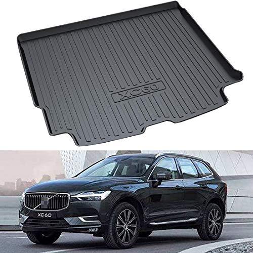 Alfombrilla de carga para maletero trasero de coche para Volv-o XC60 2018-2020, bandeja de forro de maletero de almacenamiento trasero de goma negra a medida, alfombra protectora de barro impermeable