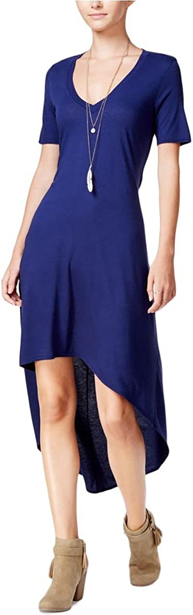 Chelsea Sky Women's High-Low Cutout T-Shirt Dress