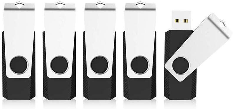 KEXIN 128GB Flash Drive 5 Pack USB 2.0 Thumb Drive USB Drive Memory Stick, Black