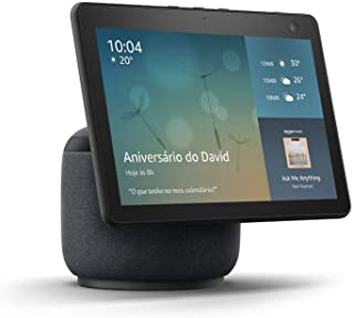 "Novo Echo Show 10: Smart Display HD de 10,1"" com movimento e Alexa - cor Preta"