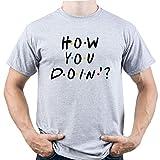 EUGINE DREAM How You Doin Joey Tribbiani Friends Tshirt Camiseta para Hombre Gris M
